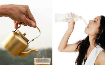 Drinking water after having tea and coffee