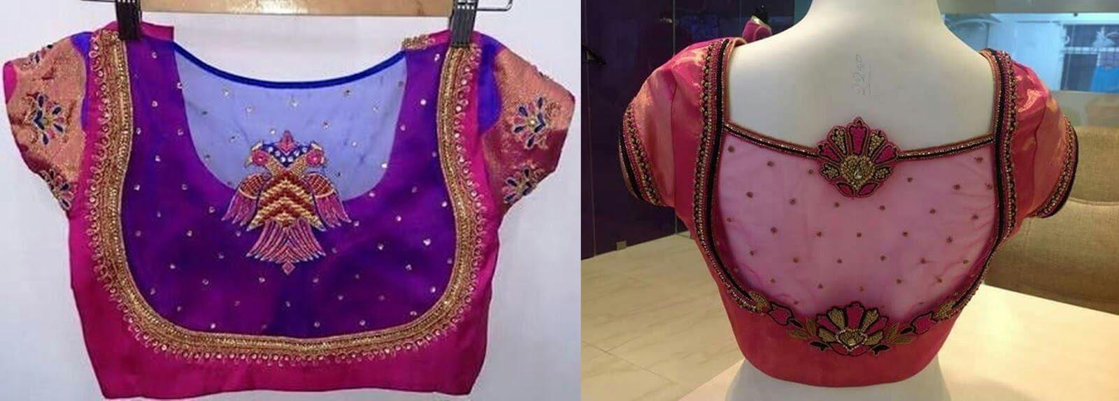 Fishnet blouse design